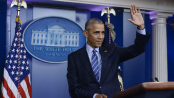 In his final press conference, Obama looked back on eight years, but pressing questions about Russian hacking and violence in Syria took center stage. Leigh Vogel/WireImage