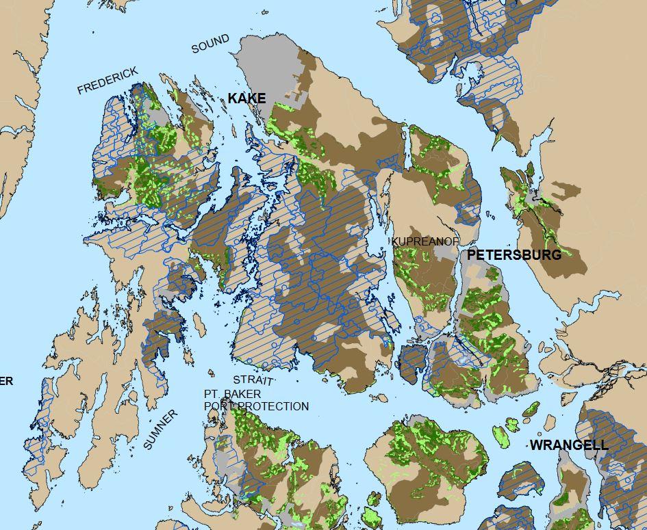 Frederick Sound Alaska Map.Forest Plan Has Some Changes For Central Southeast Alaska