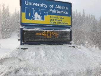 The University of Alaska Fairbanks campus on Jan. 18, 2017. (Photo by Amanda Frank)