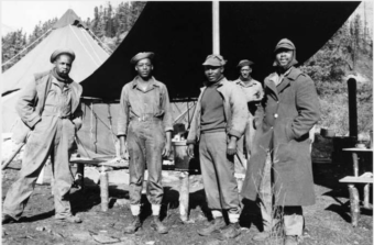 Historian Lael Morgan said the 10,000 U.S. soldiers who built the Alaska Highway included about 3,500 African-American troops, who mainly worked from Alaska southward into Canada. (Photo by U.S. Army/University of Alaska archives)