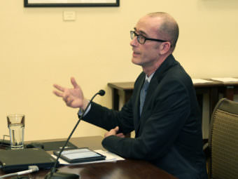 Alaska Public Defender Quinlan Steiner testifies on criminal justice changes in the Senate Judiciary Committee on March 1, 2017.