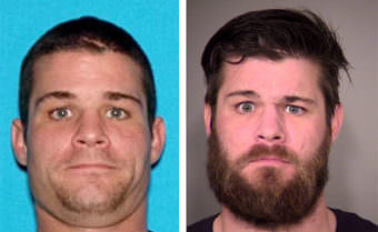 Juneau Police Department released these images of Joshua Levi Brown is sought in the stabbing of a 24-year-old victim along Thane Road on April 22 (Photos courtesy Juneau Police Department)