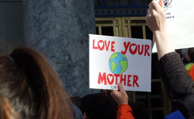 An organizer estimated hundreds participated in Juneau's March for Science on Saturday, April 22, 2017. (Photo courtesy Tasha Elizarde)