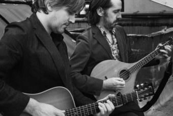 The Murphy Beds Jefferson Hamer and Eamon O'Leary play guitar and bouzouki