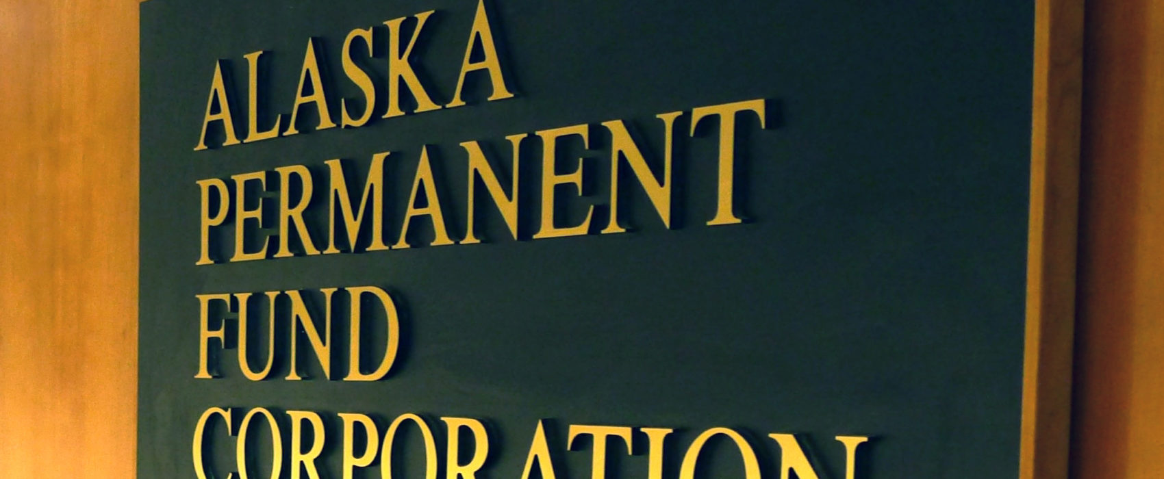 Alaska Permanent Fund Corporation sign, March 14, 2016.