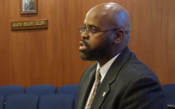 Sen. David Wilson, R-Wasilla, speaks during a Senate Floor Session on Feb. 6, 2017.