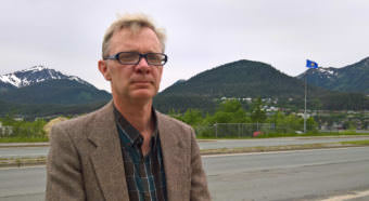 Juneau man Greg Fitch poses for a portrait in Juneau on June 8, 2017. Fitch filed paperwork to run for Republican Don Young's seat in Congress in 2018. (Photo by Jeremy Hsieh/KTOO)