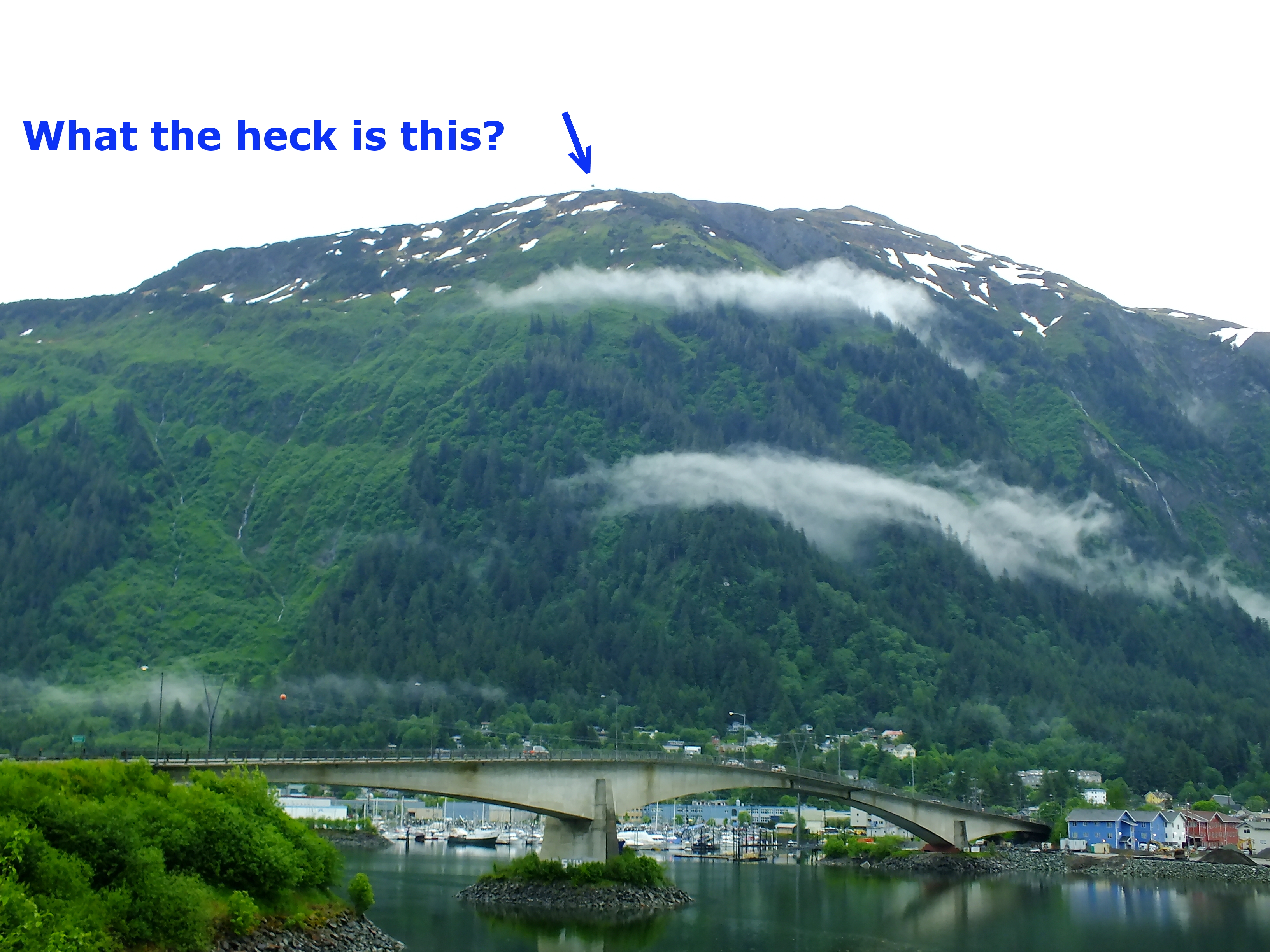 Mount Juneau Billboard Was Used For Bouncing Microwave