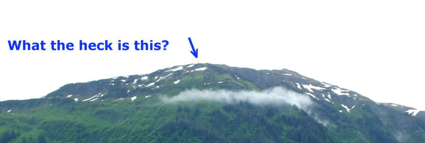 The AT&T Alascom microwave reflector is located at an elevation of 3012 feet on Mt. Juneau.