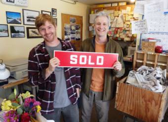 Kyle Clayton bought the Chilkat Valley News from longtime reporter and five-year owner Tom Morphet. (Photo by Emily Files/KHNS)