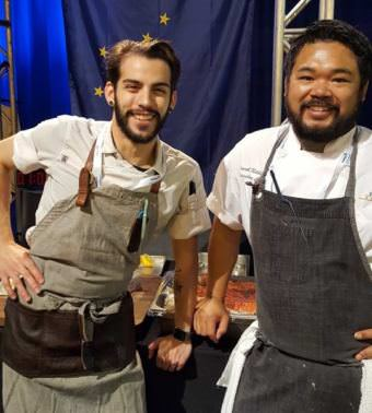 Sous chef Jacob Pickard and Chef Lionel Uddipa represented the Juneau restaurant Salt at the 14th annual Great American Seafood Cook-Off in New Orleans on Saturday, Aug. 5, 2017. The team won the contest.