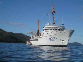 The NOAA Ship Fairweather in 2015. (Photo courtesy NOAA)