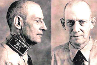 Mugshot of Robert Stroud at Alcatraz