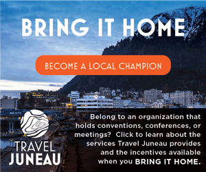 Bring i thome - become a local champion. Belong to an organization that holds conventions, conferences, or meetings? Click to learn about the services Travel Juneau provides and the incentives available when you bring it home.