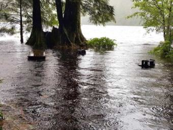 Flooding at Ketchikan's Ward Lake Recreation Area. (Photo courtesy of Paul Robbins/U.S. Forest Service)