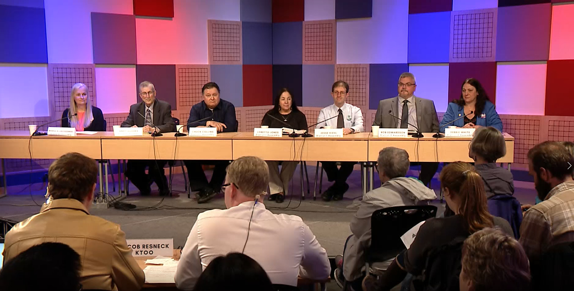In this screen capture, Candidates for the Juneau Assembly participate in a forum produced by KTOO, Juneau Empire and Juneau Votes on Monday, September 25, 2017. (Courtesy 360 North)