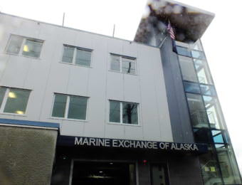 The new building for the Marine Exchange of Alaska in downtown Juneau is adjacent to Harris Harbor.