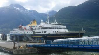 The ferry Malaspina docks in Skagway Aug. 25, 2017. The Alaska Marine Highway is being studied as part of a reform effort, which will be discussed at the Southeast Conference meeting Sept. 19-21 in Haines. (Photo by Ed Schoenfeld/CoastAlaska News)