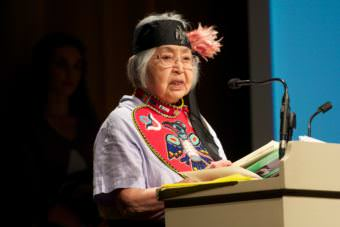 Nora Dauenhauer won an Ecotrust Indigenous Leadership Award in 2011.