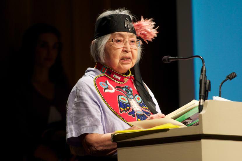 Nora Dauenhauer won an Ecotrust Indigenous Leadership Award in 2011.