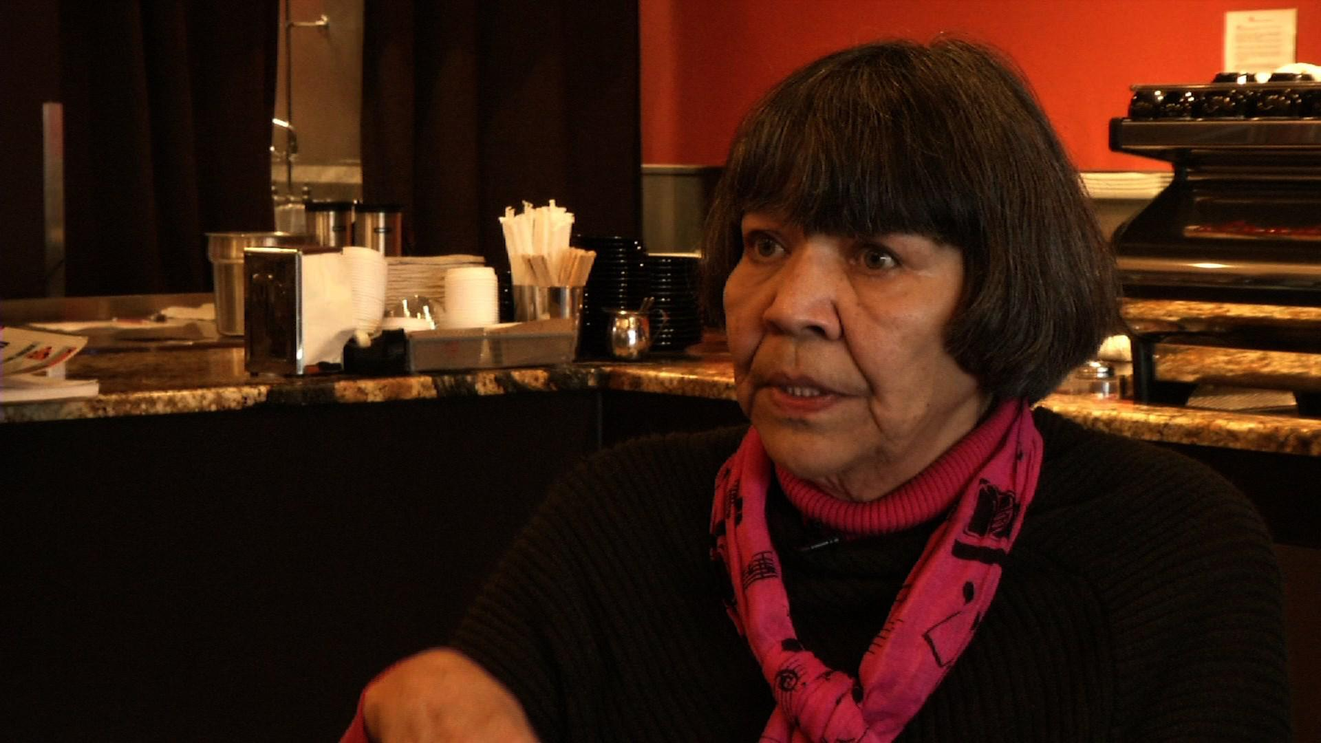 Yup'ik and Gwich'in political activist Desa Jacobsson died at age 69 in Anchorage after a lifetime of raising awareness for Native issues, including sexual violence against Native women. (Photo courtesy KTVA PENDING APPROVAL)