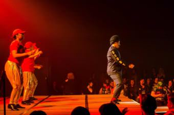 """Tahir McInnis performs as Tyquan to Bobby Brown's """"Every Little Step"""" at the drag show Glitz at Centennial Hall on Jun. 17, 2017. (Photo by Miranda McHenry/Courtesy of the artist)"""