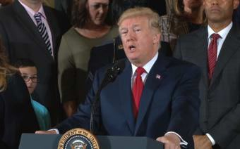 President Donald Trump delivering remarks after formally declaring the opioid crisis a national health emergency. (Screenshot of Whitehouse.gov video)