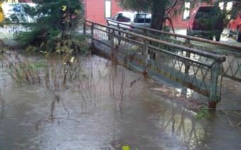 A flood warning has been issued for Jordan Creek in Juneau. (Photo courtesy National Weather Service Juneau)