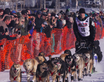 Dallas Seavey, pictured at then 2016 Iditarod Willow restart.