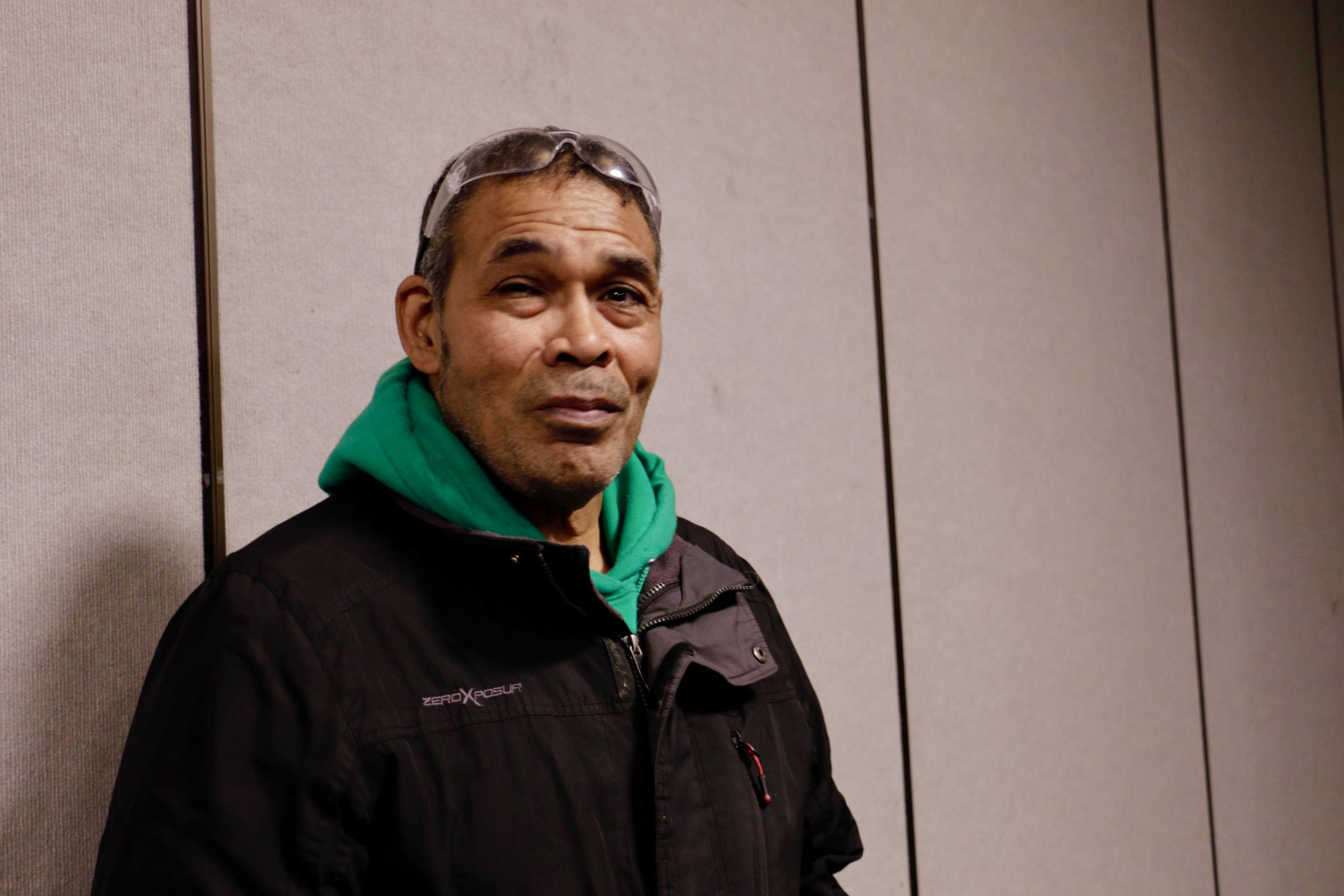 "Keggulluk Earl Polk is featured in ""We Breathe Again,"" a documentary that follows four Alaska Natives on their path through the healing process. Polk attended a screening of the film in Bethel in September. (Photo by Christine Trudeau/KYUK)"