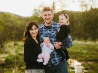 The remains of pilot Kyle Stevens, 31, were recovered Oct. 20, 2017, in the Yukon River near Russian Mission. He's pictured here with his widow Ella, and their two daughters, Kate, 2, and Lauren, 7 months. (Photo courtesy of Kako Retreat Center)