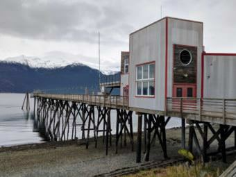 The Portage Cove dock the Chilkoot Indian Association is working to purchase from the Klukwan Inc. trust. (Photo by Berett Wilber/KHNS)
