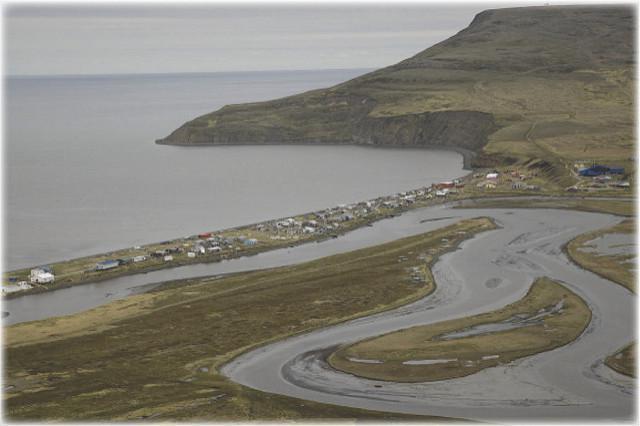 The Department of Transportation graded Tununak's runway several days ago. (Photo courtesy Andrea Pokrzywinski)