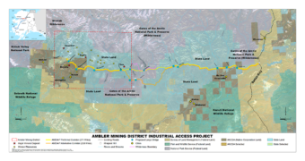 Ambler Mining District Industrial Access Project (Graphic courtesy Alaska Industrial Development and Export Authority)