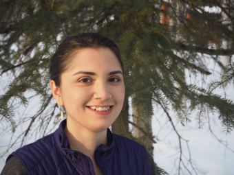 Chelsey Qaġġun Zibell is a master's candidate and adjunct faculty member at University of Alaska Fairbanks School of Education. She's originally from Norvik and grew up hearing Inupiaq. (Photo courtesy of Chelsey Qaġġun Zibell.)
