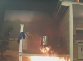 Firefighters put out a hot oil turkey fryer fire in this video by the National Fire Protection Association.