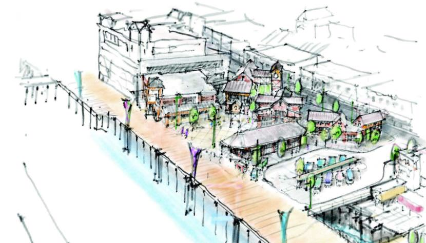 NorthWind Architects and Corvus Design created this concept art illustrating what part of Juneau's downtown waterfront could look like in 2019.