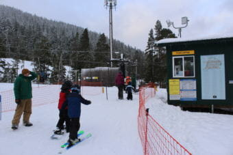 The Porcupine Chairlift runs on Opening Day at Eaglecrest Ski Area. (Photo by Adelyn Baxter/KTOO)