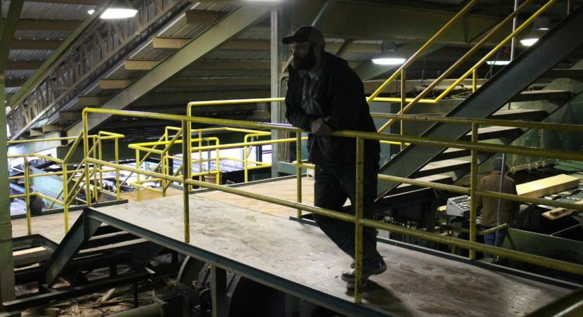 Bryce Dahlstrom. Viking Lumber owner. (Photo by Elizabeth Jenkins/Alaska's Energy Desk)