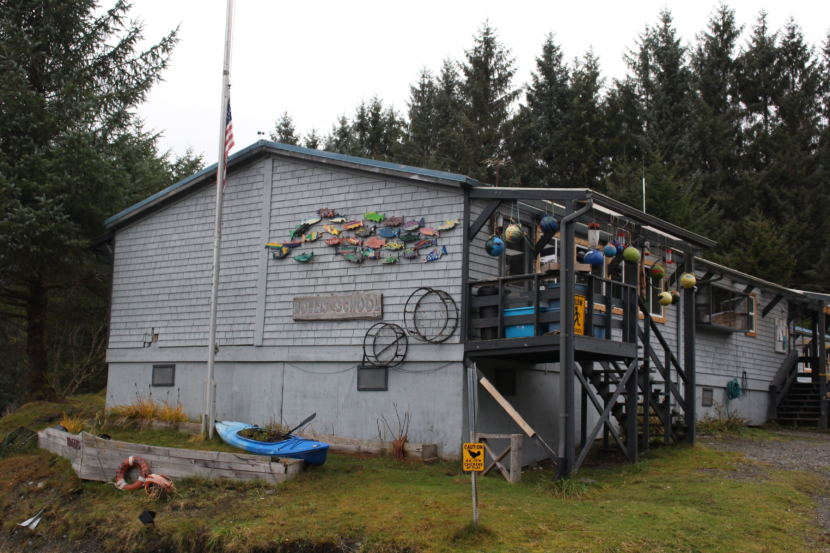 POW Hollis School is part of Southeast Island School District (Photo by Elizabeth Jenkins/Alaska's Energy Desk) 12/20/17