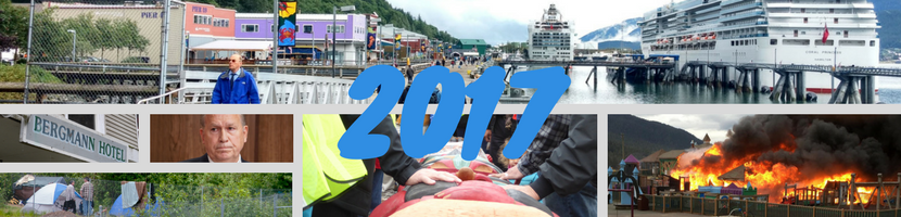 A photo collage of Juneau's biggest news stories of 2017.