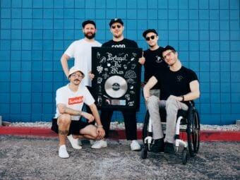 Portugal. The Man. From left: John Gourley, Jason Sechrist, Zach Carothers, Kyle O'Quinn and Eric Howk (Photo courtesy Atlantic Records)
