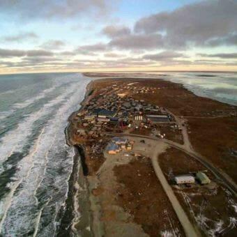 Shishmaref, from above. (Photo courtesy of Dennis Davis.)