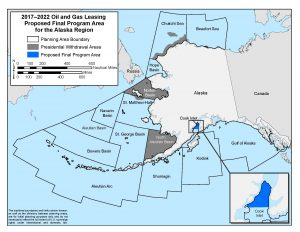 Alaska's congressional delegation has asked that only three Alaska offshore areas remaining in the leasing plan. (Photo courtesy of The Bureau of Ocean Energy Management)