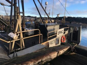 Fishing vessel Kema Sue under commission to the International Pacific Halibut Commission for research. (Photo by Kayla Desroches / KMXT)