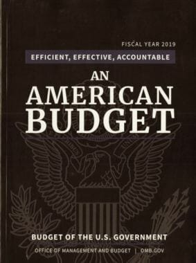 President Trump's proposed budget for 2019. (Image courtesy GPO.gov)