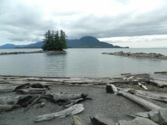 Rotary Beach south of Saxman is also called Bugge's Beach. (File photo by KRBD)