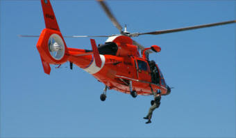 An MH-65 Dolphin rescue helicopter similar to this one was involved in a near-miss with a drone Saturday over Port Angeles, Washington. (Photo by Master Sgt. Rick Cowan/U.S. Coast Guard)