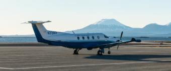 The Pilatus PC-12 airplane.