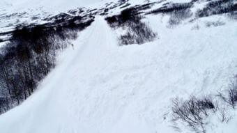 An avalanche blocked the road to Hatcher Pass on Monday, March 19, 2018.